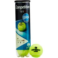 Tennisballen TB920 2 kokers met 4 stuks geel