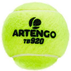 BALLE DE TENNIS COMPETITION TB920 *4 BIPACK JAUNE