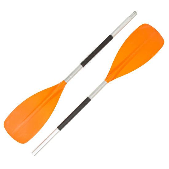 Kajakpeddel 100 oranje demonteerbaar, 2-delig - 1166238