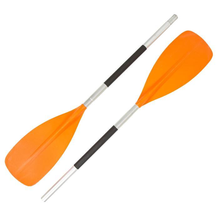 Demonteerbare kajakpeddel 100 2-delig oranje