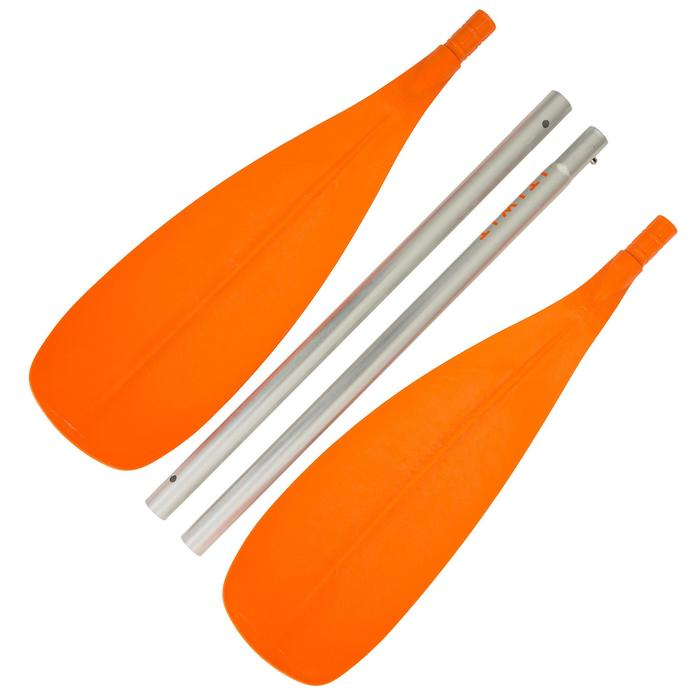 Paddel Kajak 100 4-teilig zerlegbar orange