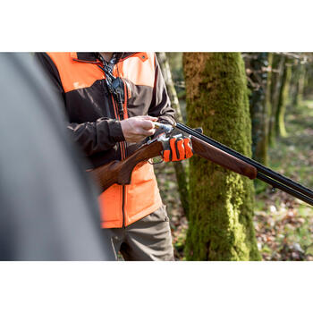 SOFTSHELL CHASSE 500 FLUO/MARRON