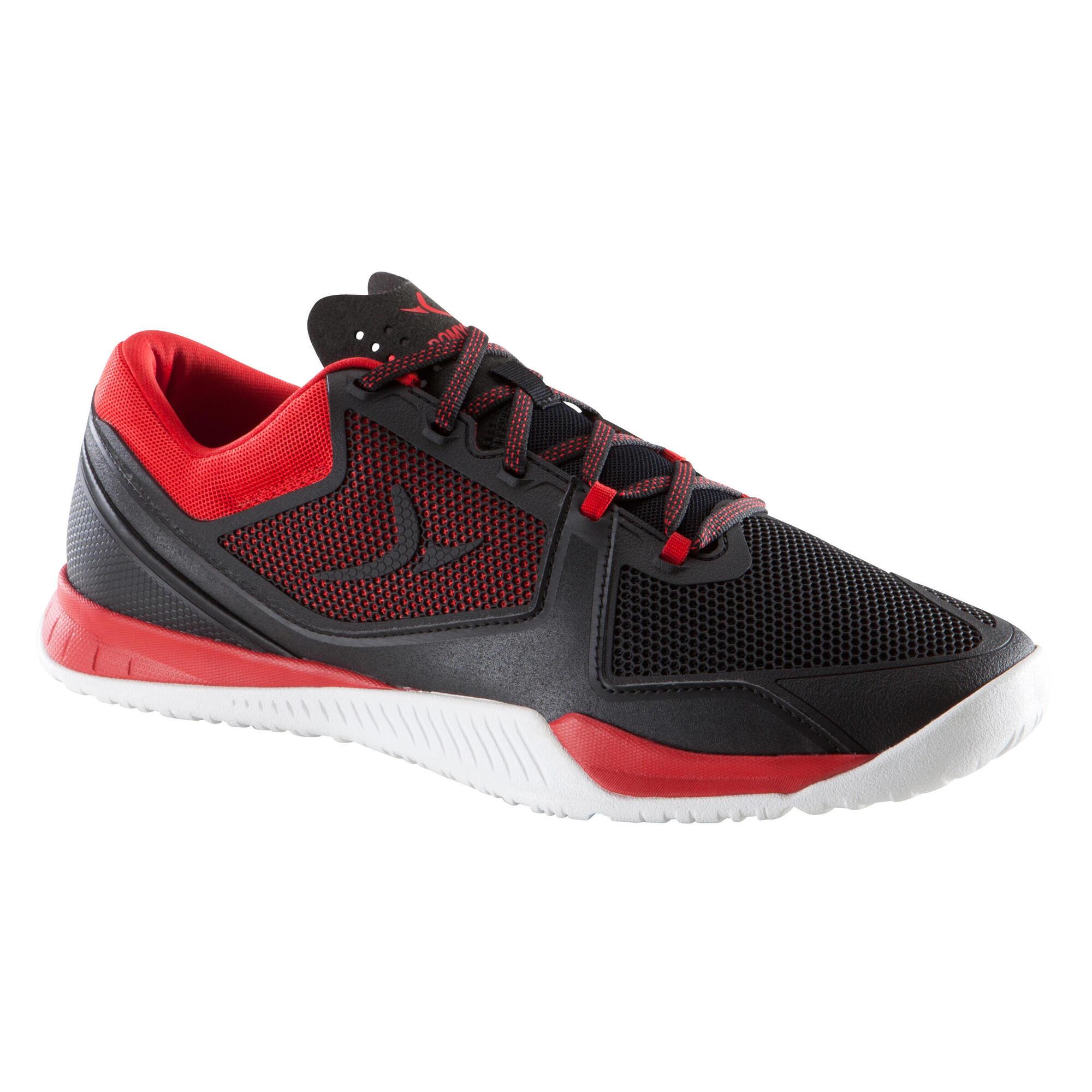 chaussure de cross training homme noir et rouge strong 900 domyos by decathlon. Black Bedroom Furniture Sets. Home Design Ideas