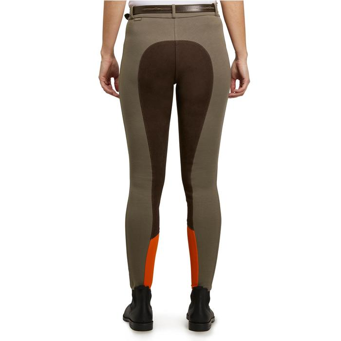 Reithose 180 Vollbesatz Damen braun/orange