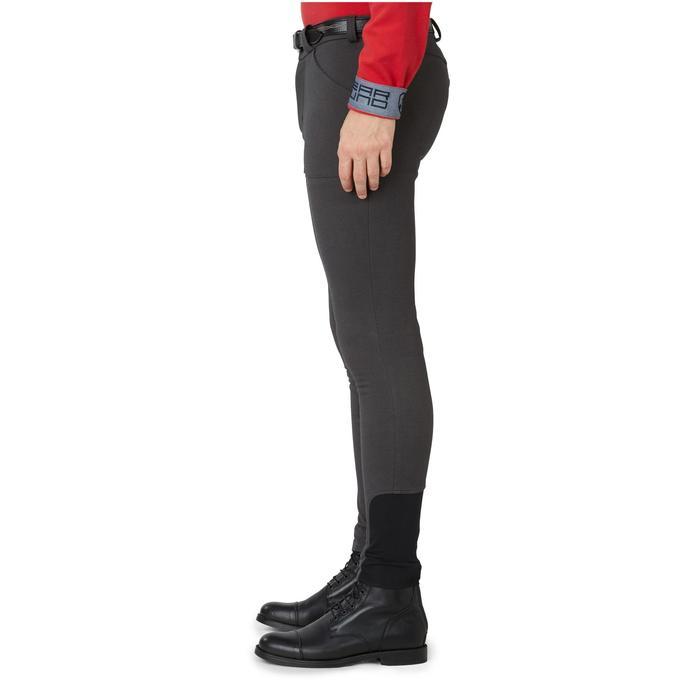 Pantalon chaud équitation homme VICTOR gris foncé - 1166577