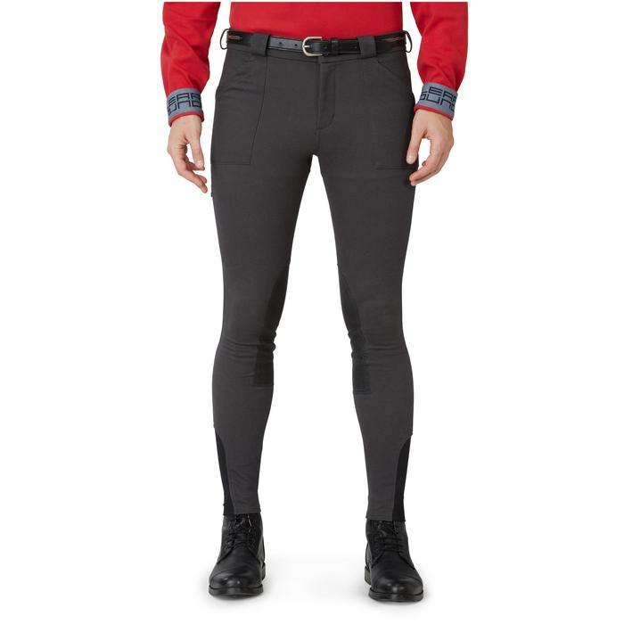 Pantalon chaud équitation homme VICTOR gris foncé - 1166580