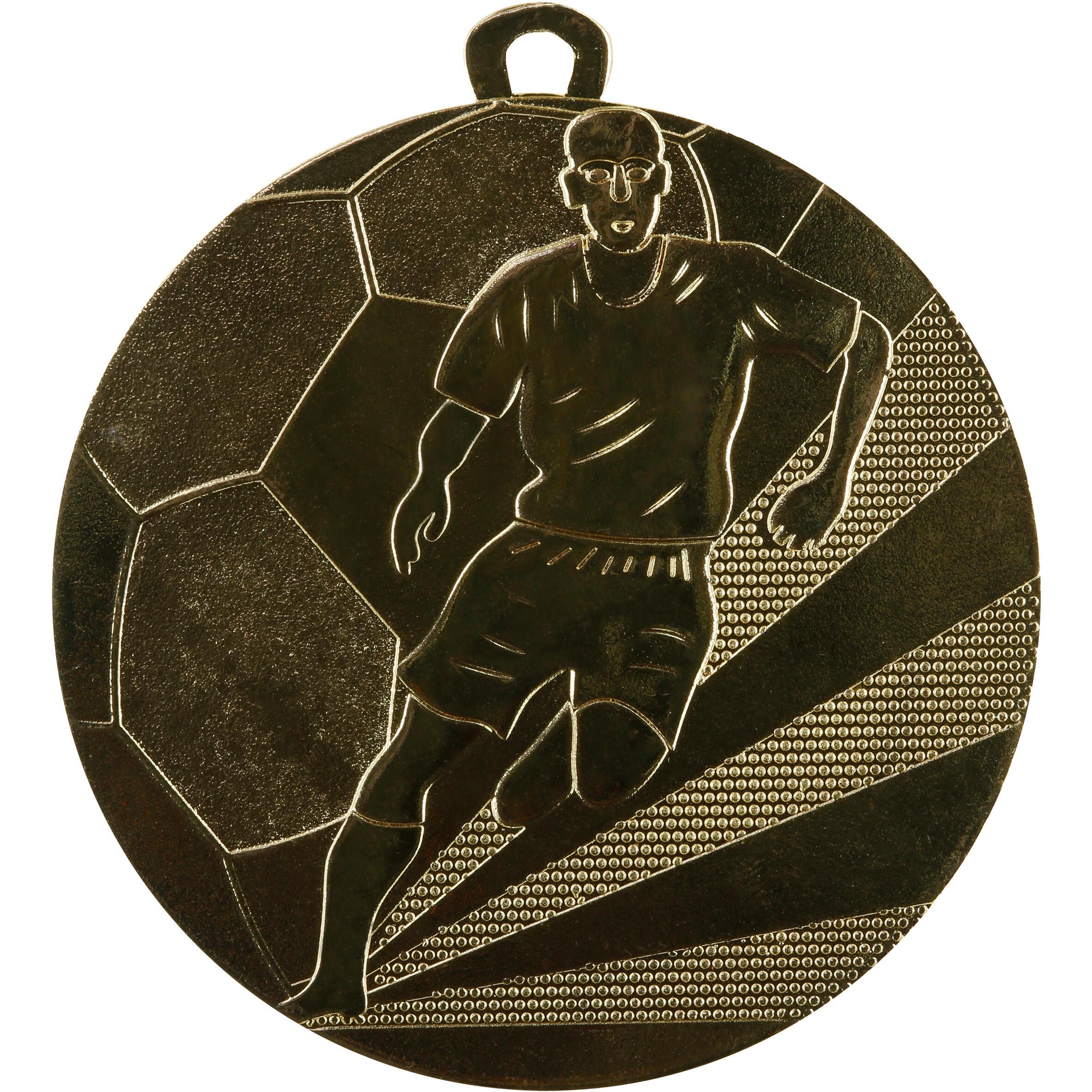 Workshop Medaille voetbal 50 mm goud