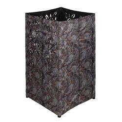 Vierkant loertent camouflage bruin