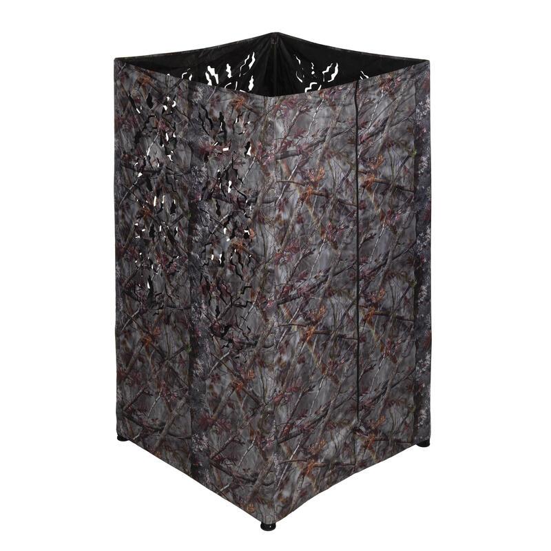 Affût chasse carré 3D camouflage marron