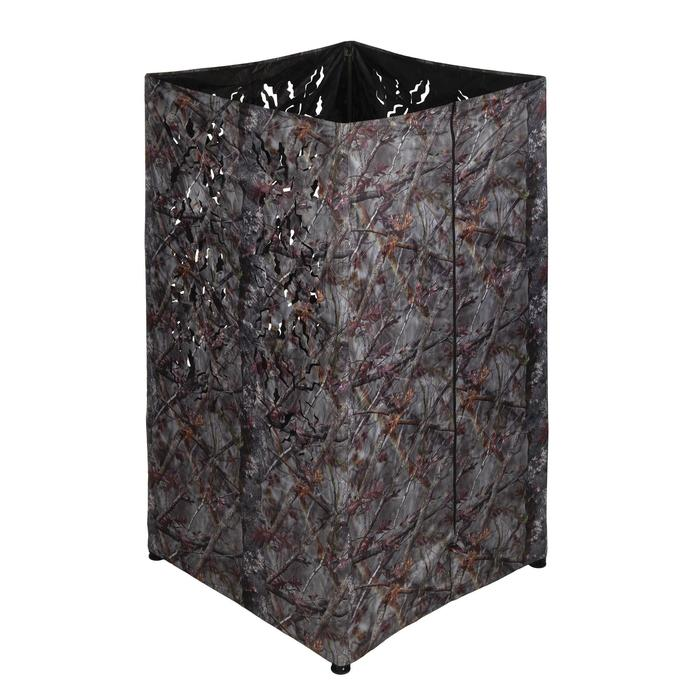 Vierkante loertent voor de jacht camouflage bruin - 1166937
