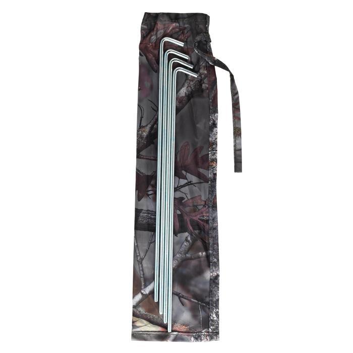 Vierkante loertent voor de jacht camouflage bruin - 1166940