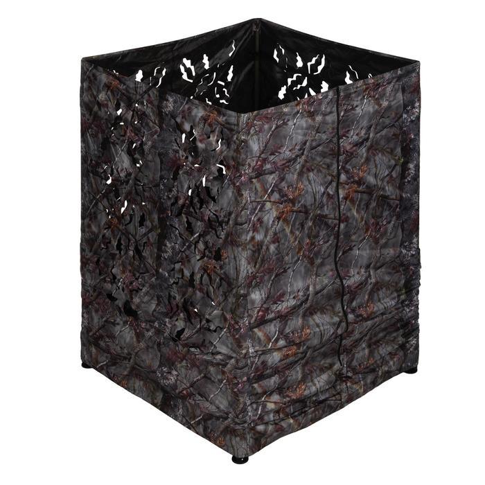 Vierkante loertent voor de jacht camouflage bruin - 1166942