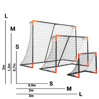 Portería de fútbol Kipsta Classic Goal L gris y naranja