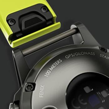 Gps-multisporthorloge met polshartslagmeting Fenix 5 grijs (zwart bandje)
