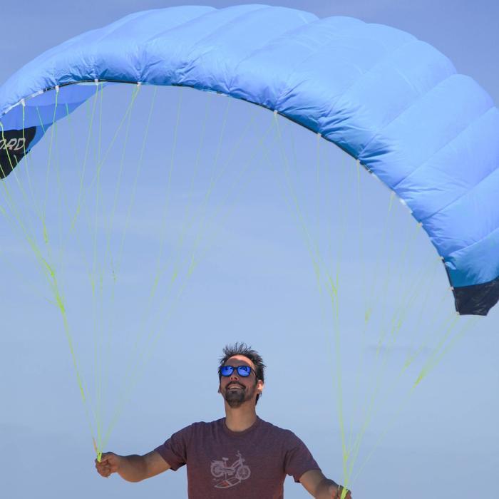 AILE DE TRACTION Zeruko 2.5 m2 + poignées de pilotage bleue - 1167149