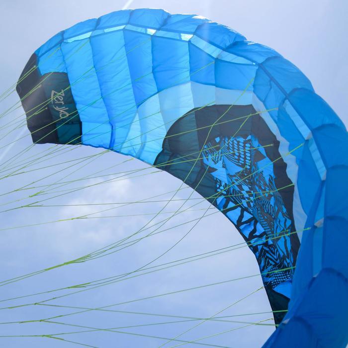 AILE DE TRACTION Zeruko 2.5 m2 + poignées de pilotage bleue - 1167152