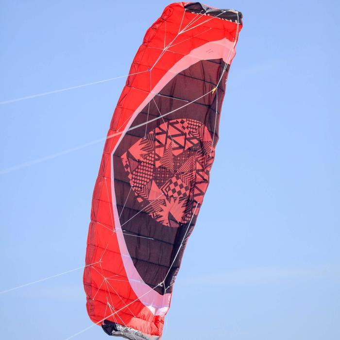 Paradrachen Zeruko 3,5m² + Lenkgriffe rot