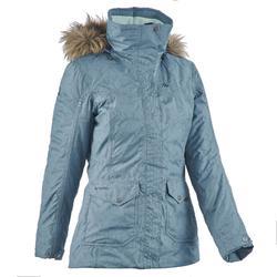 SH600 女性保暖雪地健行運動夾克 - 米黃