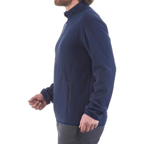 veste polaire randonn e montagne homme forclaz 200 bleu quechua. Black Bedroom Furniture Sets. Home Design Ideas