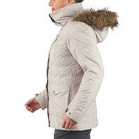 SH600 Women's Warm Snow Hiking Jacket - Beige
