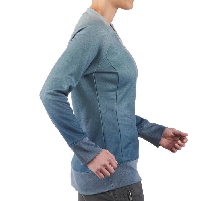 Jersey de senderismo en la naturaleza mujer NH150 azul