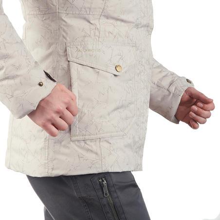 SH600 Women's Warm Snow Hiking Jacket - Beige