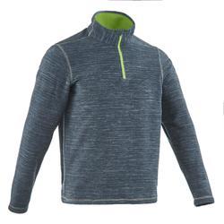 男款登山健行刷毛外套Forclaz 50-灰色