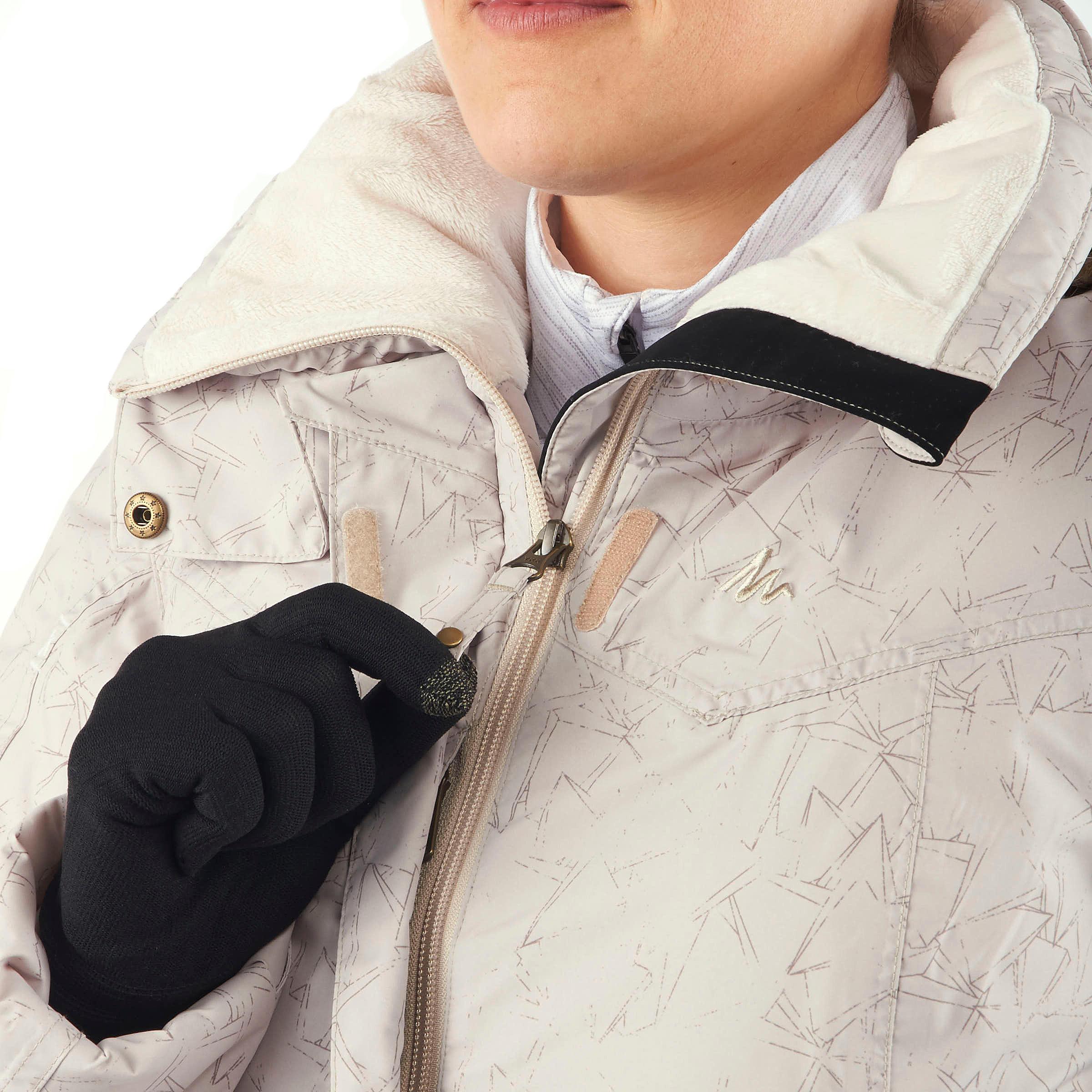 mujer senderismo Sh900 Warm Chaqueta de para Beige PkOn08wX