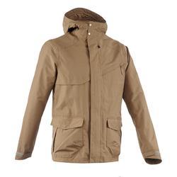 男款郊野健行防水外套Protect NH500-棕色
