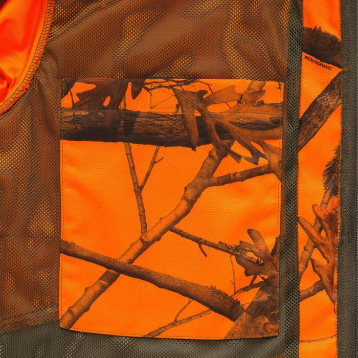 Veste chasse Steppe 100 CAMOUFLAGE FLUO - 1167578