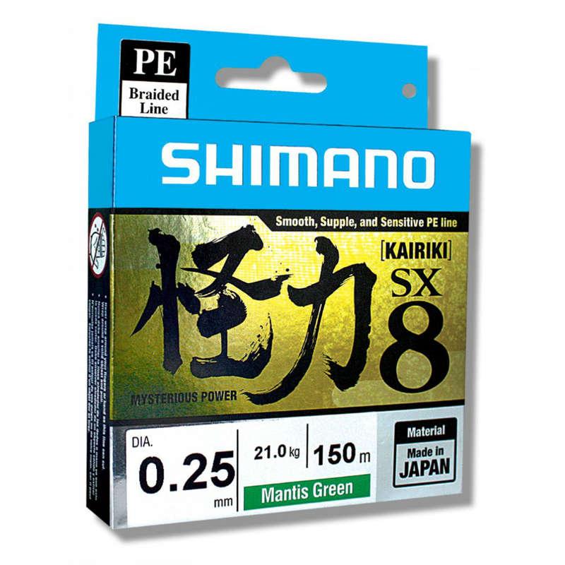 ПЛЕТЕНЫЕ ЛЕСКИ Рыбалка - RU KAIRIKI 8X 150M NEW SHIMANO - Спиннинговая ловля