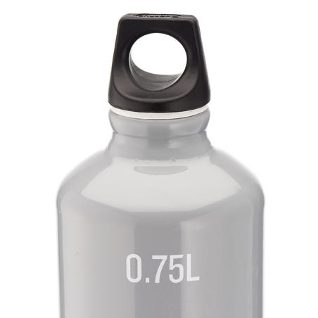 100 Aluminium Hiking Water Bottle with Screw Top 0.75 L - Grey