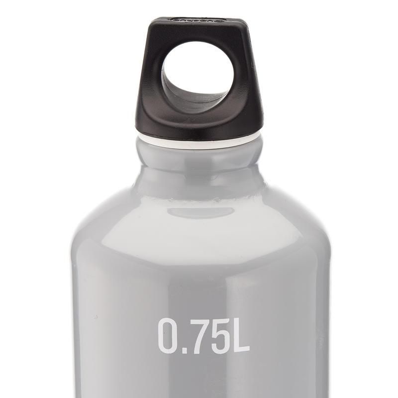 Mountain Hikng Water Bottle screw top Aluminum 100 0.75 L - Grey