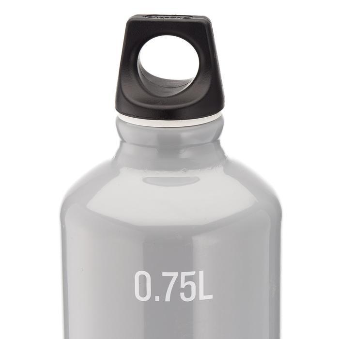 Cantimplora senderismo 100 tapón de rosca 0,75 L aluminio gris