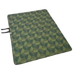 Grote plaid XL voor kamperen en wandelen 170 x 210 cm groen