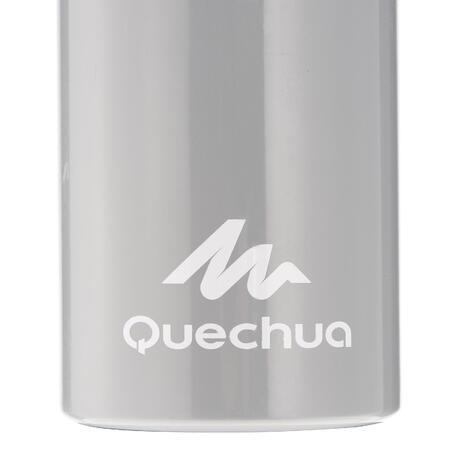 Cantimplora Botella Aluminio Camping Quechua 100 Gris Tapón Rosca 0,75 L