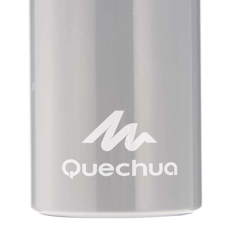 Gourde randonnée 100 bouchon à vis 0,75 litre aluminium gris