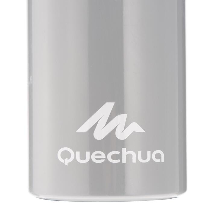 Drinkfles voor hiking 100 schroefdop 0,75 liter aluminium grijs