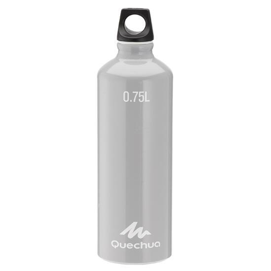 Drinkfles voor wandelingen 100 met schroefdop 0,75 liter aluminium - 1167820