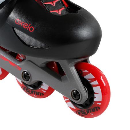 patins à roues alignées pour enfant JEU 5 rouge noir