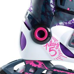 patins à roues alignées pour enfant JEU 5 gris clair