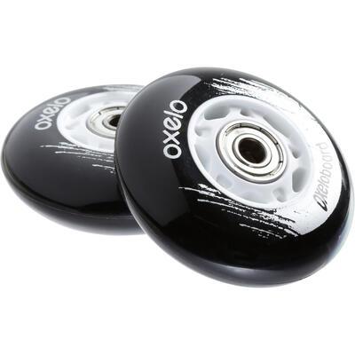 عجلات لوح التزلج X2 OXELO - لون أسود