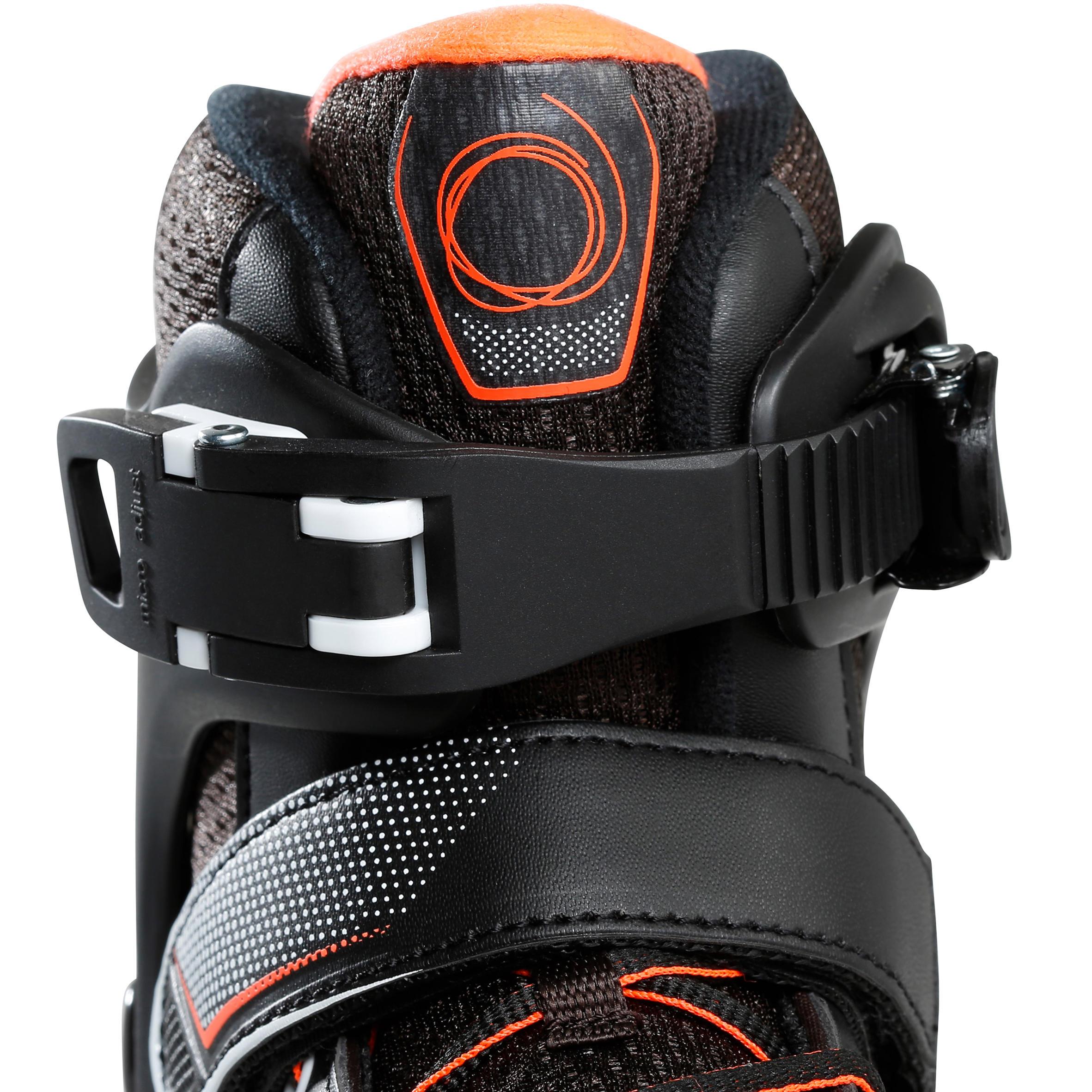 KIDS ROLLER SKATES FIT 3 JR BLACK/ORANGE