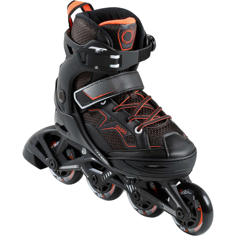 CHILDREN INLINE SKATE Outdoor Activities - Fit 3 JR - Black/Orange OXELO - Outdoor Activities