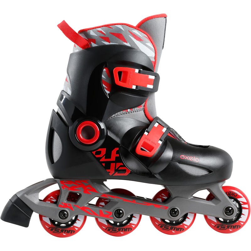 Play 5 Kids' Skates - Red/Black