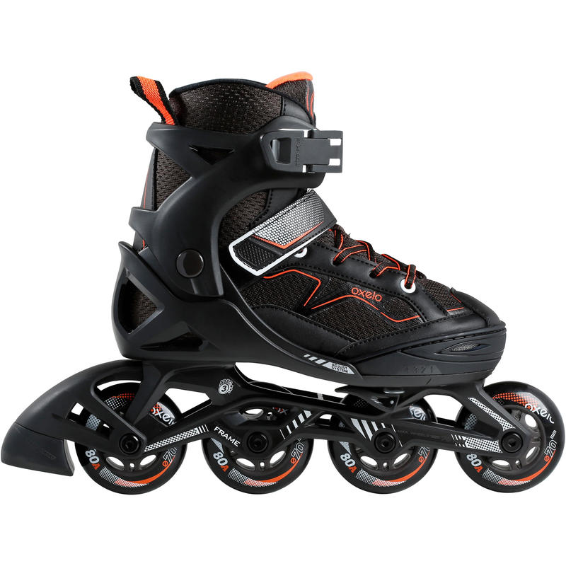 Fit 3 Kids' Fitness Skates - Black/Orange