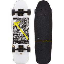 Cruiser Skateboard CITY THRASHER RIDE blanc