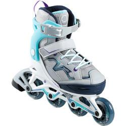 兒童健身直排輪Fit 3 - - 藍綠色