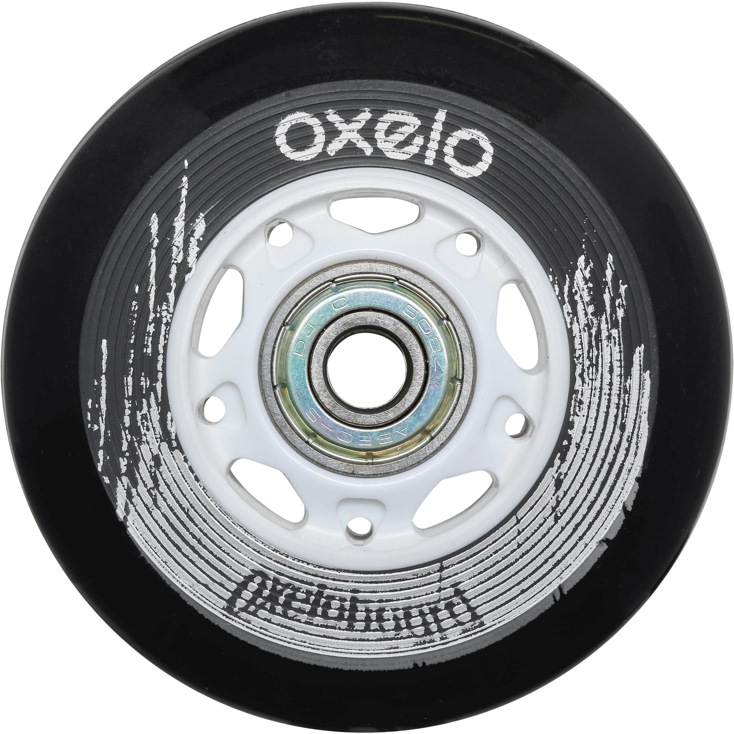 OXELO WAVEBOARD WHEELS X2 - BLACK