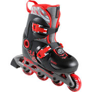 KIDS' INLINE SKATE PLAY 5 - RED/BLACK